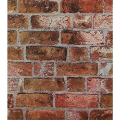 Red Orange Brick Wallpaper | Embossed Textured Vinyl Rust Bricks Stones | HE1046 | eBay