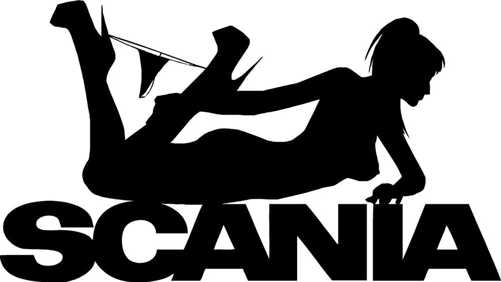 Car With Jdm Stickers Wallpaper Scania Sexy Pose Girl Hgv Truck Sticker Decals For Glass