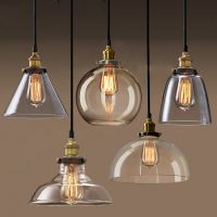 Permo Pendant Light Chandelier Vintage Industrial Clear ...