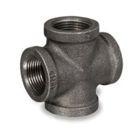 """LOT OF (5) 1 1/2"""" BLACK IRON PIPE THREADED CROSS FITTINGS ..."""