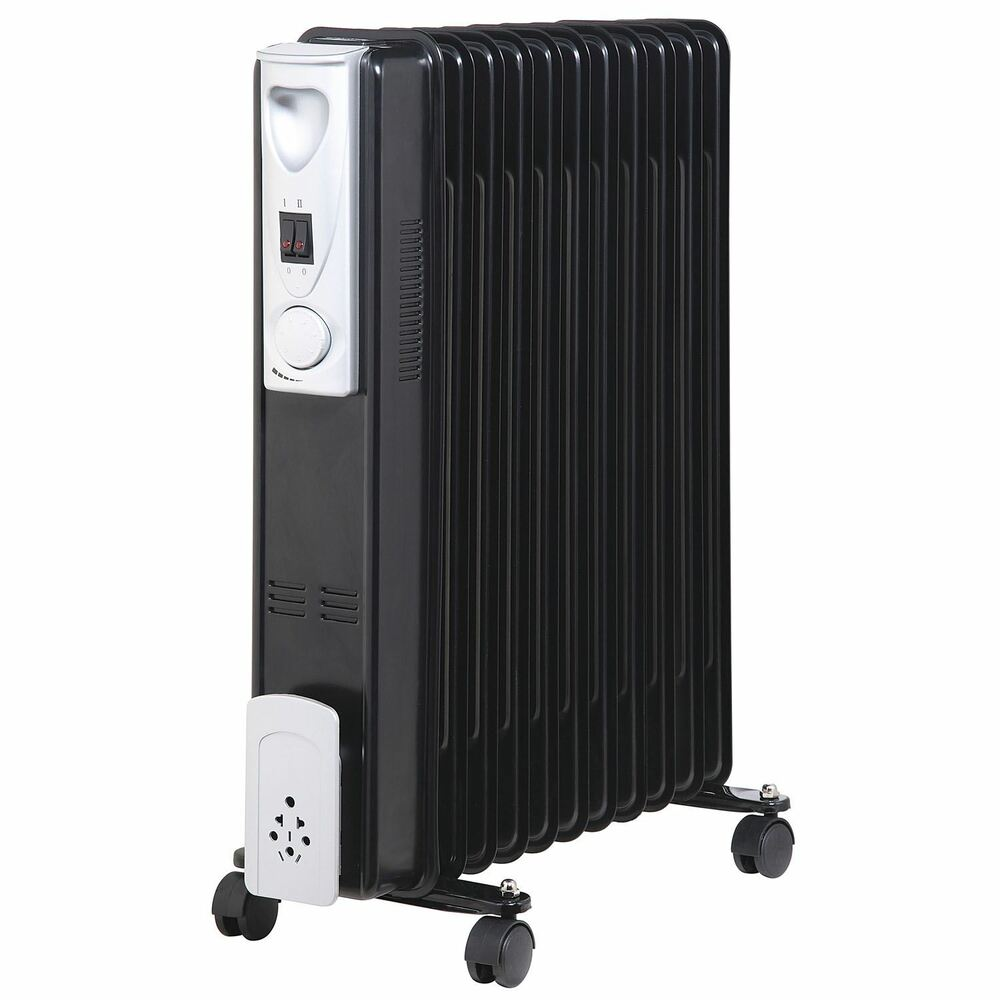 2500w 11 Fin Portable Oil Filled Radiator Heater