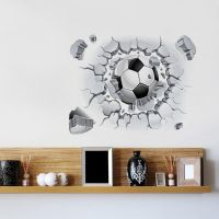 Removable 3D Football Wall Sticker Mural Art Vinyl Decal ...
