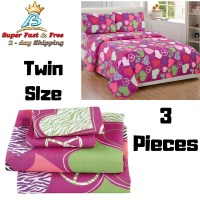 Cheap Sheet Set Twin Size 3 Piece Pink Purple Zebra Hearts ...
