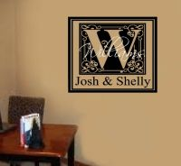 Custom Name Monogram Letter Vinyl Decal Wall Stickers ...