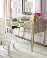 NEW Amelie ANTIQUE MIRRORED VANITY MAKEUP Table DESK ...