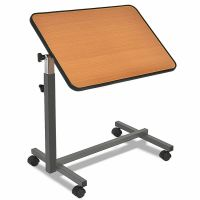 Overbed Rolling Table Laptop Food Tray Hospital Desk With ...