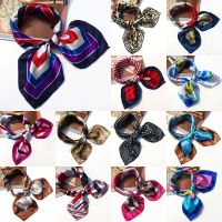 Square Scarf Silk Small Neckerchief Headband Head Neck