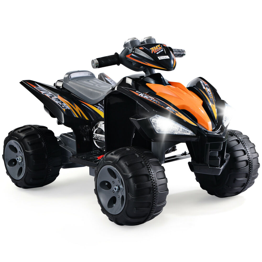 12v Led Quad Kids Ride On Atv Quad 4 Wheeler Electric Toy Car 12v Battery Power Led Lights 750218466029 Ebay