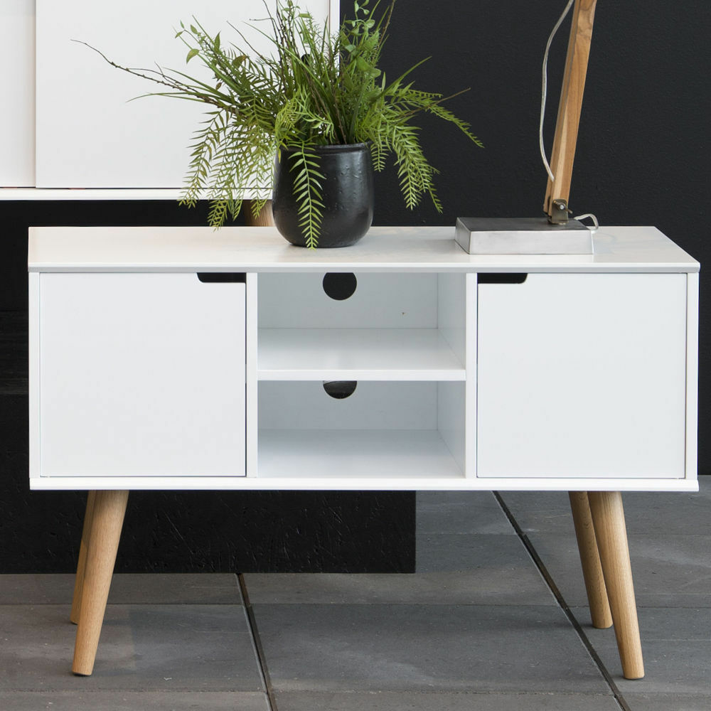 Small White Sideboard Stand Tv Unit Storage Cabinet - Sideboard Ebay