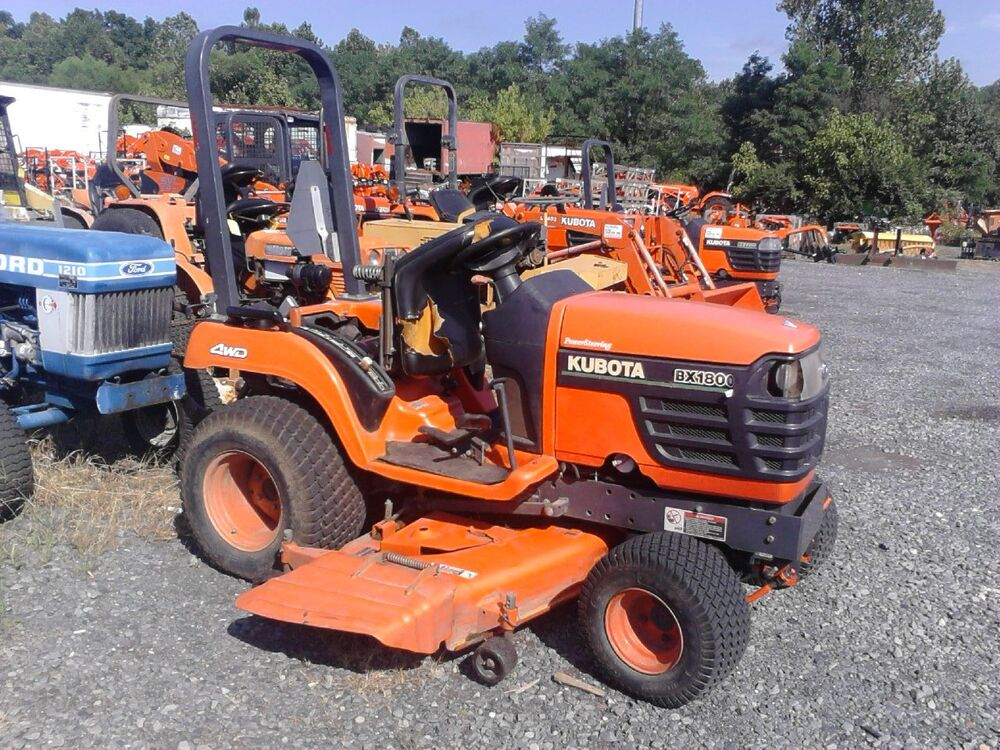Compact 4 Wheel Drive Tractors 2001 Kubota Bx1800d Sub Compact Tractor With 60 Mid