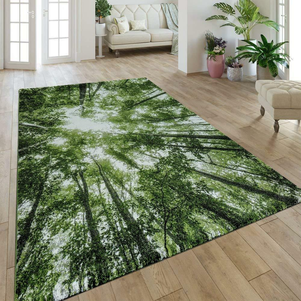 Patterned Carpet Green Rugs Modern Trees Patterned Carpet Small Large Living Room Bedroom Mat New Ebay