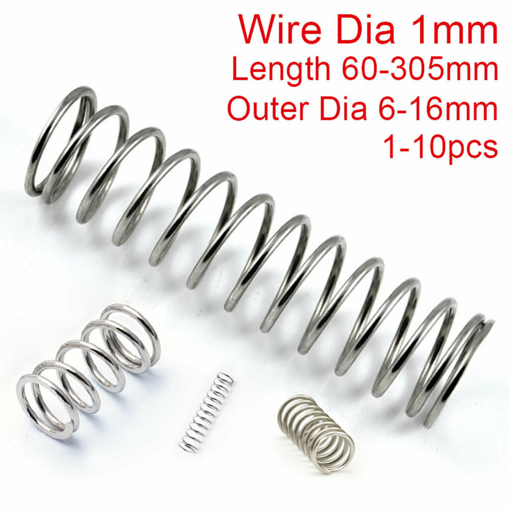 Compression Springs 1mm Wire Compression Spring 304 Stainless Steel Pressure Springs 60 305mm Length Ebay