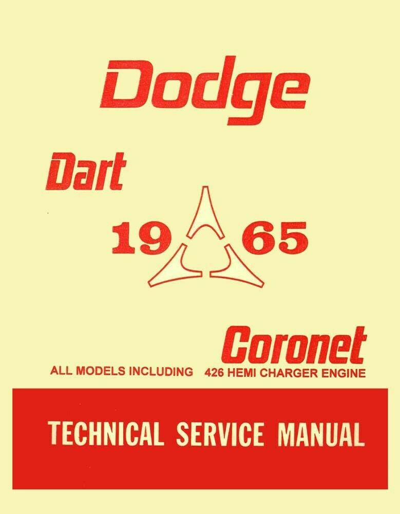 1965 Dodge Coronet Dart Shop Service Repair Manual Engine Drivetrain