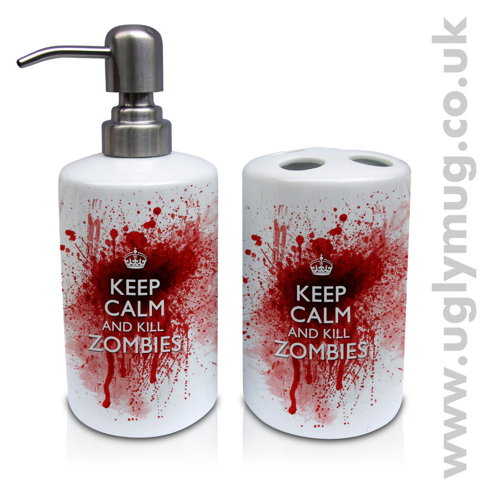 New Keep Calm And Kill Zombies Soap Dispenser And