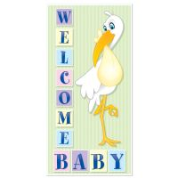 1 Baby Shower Party Decoration Boy or Girl WELCOME BABY ...
