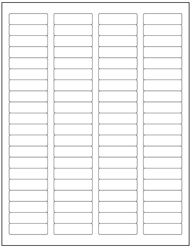 template for return address labels