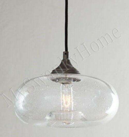 Seeded Glass Pendant Light Horchow Seeded Glass Mini Pendant Industrial Hanging Light