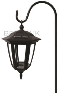 LED Solar Powered Shepherd Lantern Garden Patio Driveways ...