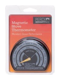 Stove Pipe Thermometer Magnetic Coal Log Wood burning ...