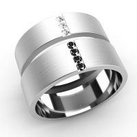 His and Hers Wedding Rings Diamond Set Bands White Gold | eBay