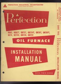 Perfection Oil Furnace Installation Manual Vintage | eBay