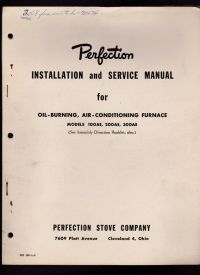 Perfection Installation & Service Manual Oil Burning Air ...