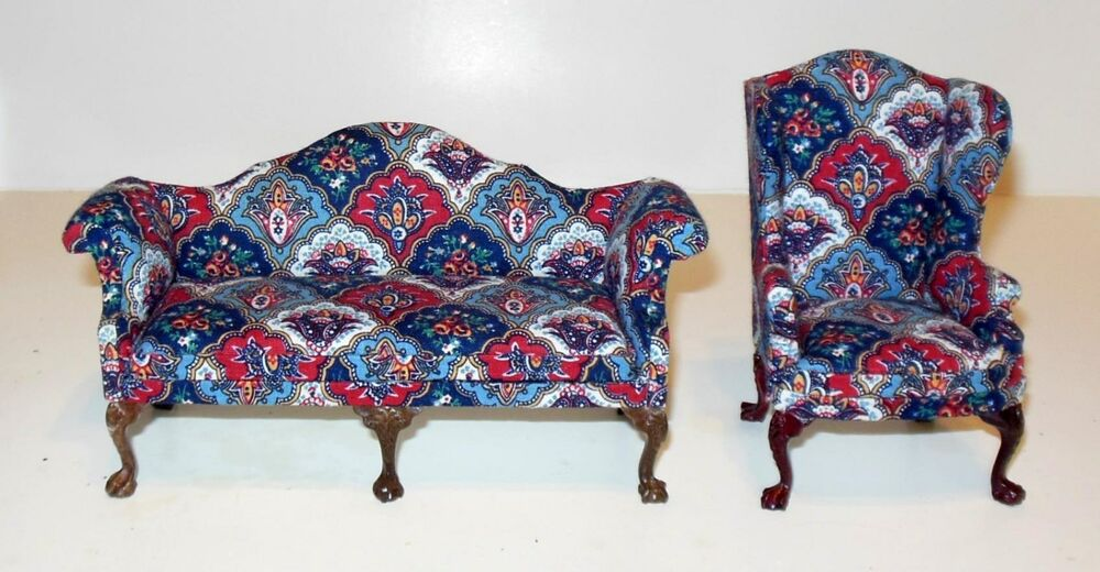 Couch Ebay Bespaq 2 Piece Floral Print Living Room Set Dollhouse