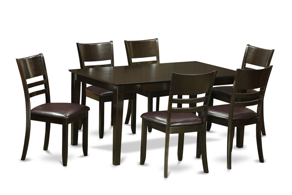7pc Capri Dining Set Dinette Table With 6 Lynfield