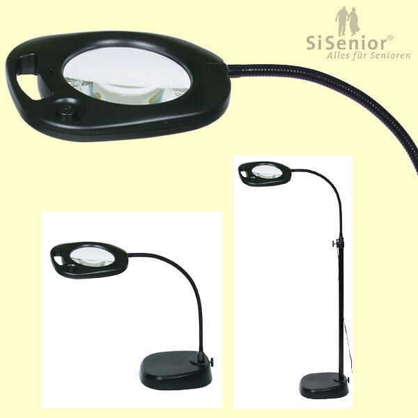 Stand Leselampe Standleselupe 21 Leds Beleuchtung Lupenlampe Standlupe Mit