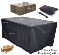 WATERPROOF GARDEN PATIO FURNITURE COVER RECTANGULAR ...