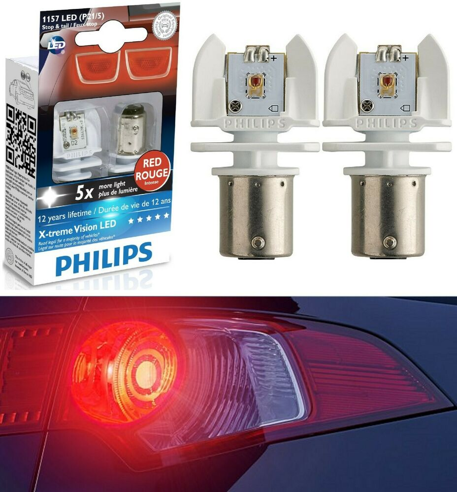Led Rouge Philips X Treme Vision Led Light Bulb 1157 Rouge Red Tail Side Marker Stop Lamp Ebay