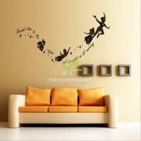 Wall Stickers Decal Peter Pan Fairy Vinyl Mural Home ...
