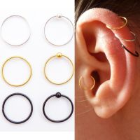Sterling Silver Cartilage Earring Tragus Nose Ring Eyebrow ...