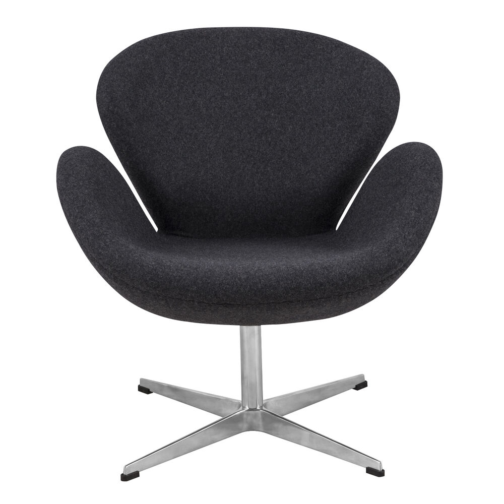 Arne Jacobsen Swan Chair In Gray Wool Ebay - Arne Jacobsen Chair