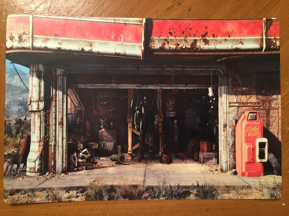Nuka Cola Hd Wallpaper Tin Sign Vintage Fallout 4 Gas Station Ebay