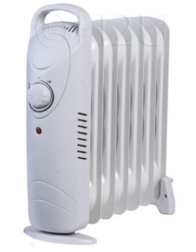 6 Fin 800w Portable Electric Oil Filled Radiator