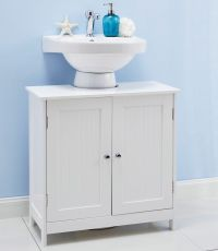 WHITE UNDER SINK BATHROOM CABINET UNDERSINK STORAGE ...