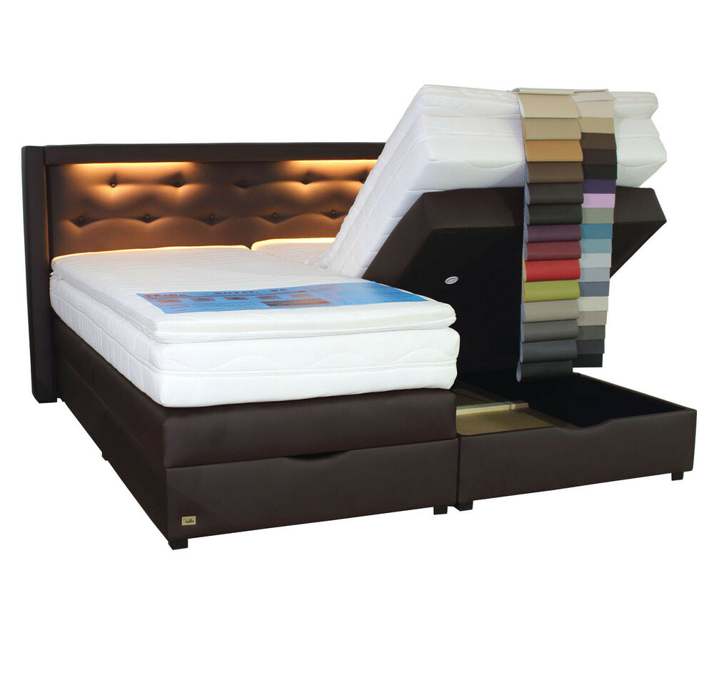 Box Bett 140x200 Boxspringbett Mit Bettkasten Led 100x200 120x200 140x200