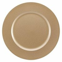 Brunchfill Set of 6 GOLD Charger Plates Decorative Under ...