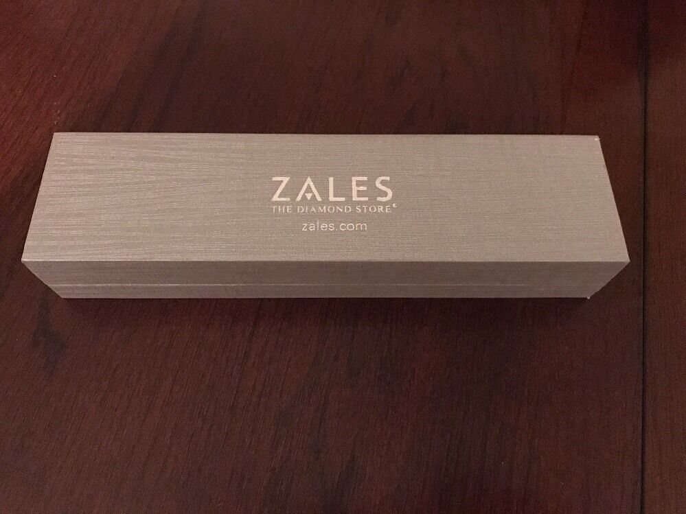 Zales the Diamond Store Silver Bracelet/necklace Jewelry Box NEW! eBay