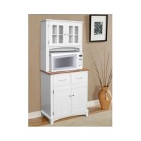 White Kitchen Hutch Buffet China Cabinet Storage Cupboard
