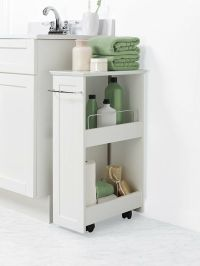 Bathroom Floor Storage Rolling Cabinet Organizer Bath ...