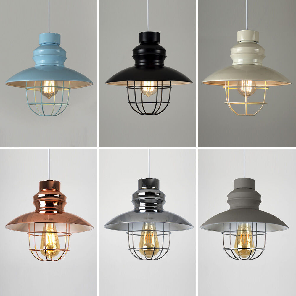 Modern Industrial Style Caged Ceiling Pendant Light Shade