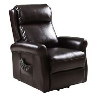 Electric Luxury Power Lift Recliner Chair Leather Lazy Man ...