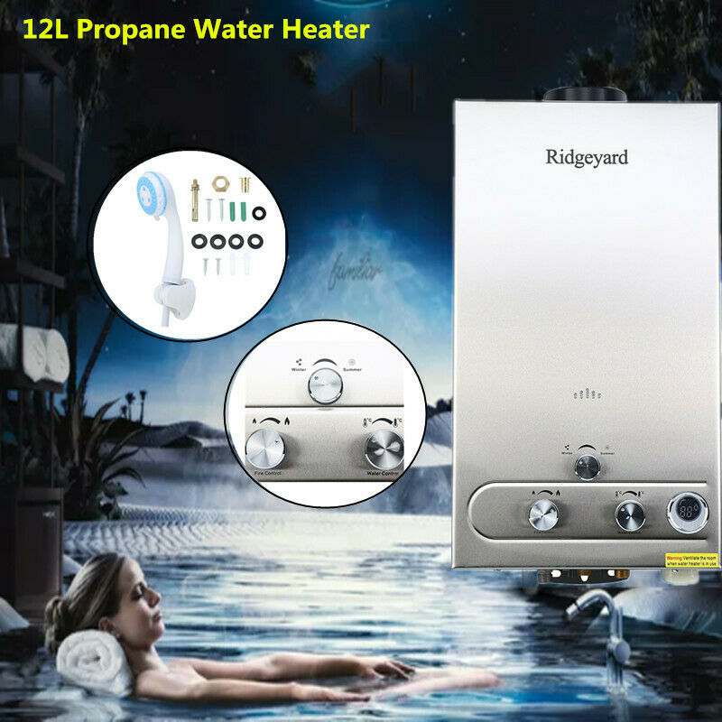Boiler 80 L 12l 3.2 Gpm Tankless Lpg Gas Home Hot Water Heater