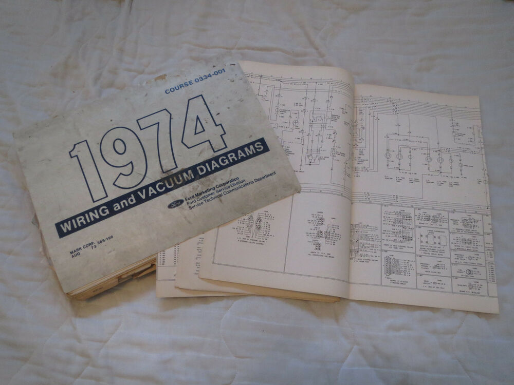 1974 FORD COURIER WIRING DIAGRAMS MANUAL SET eBay