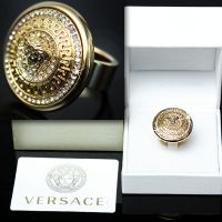 GIANNI VERSACE Men's GOLD MEDUSA RING w/ Box & Certificate ...