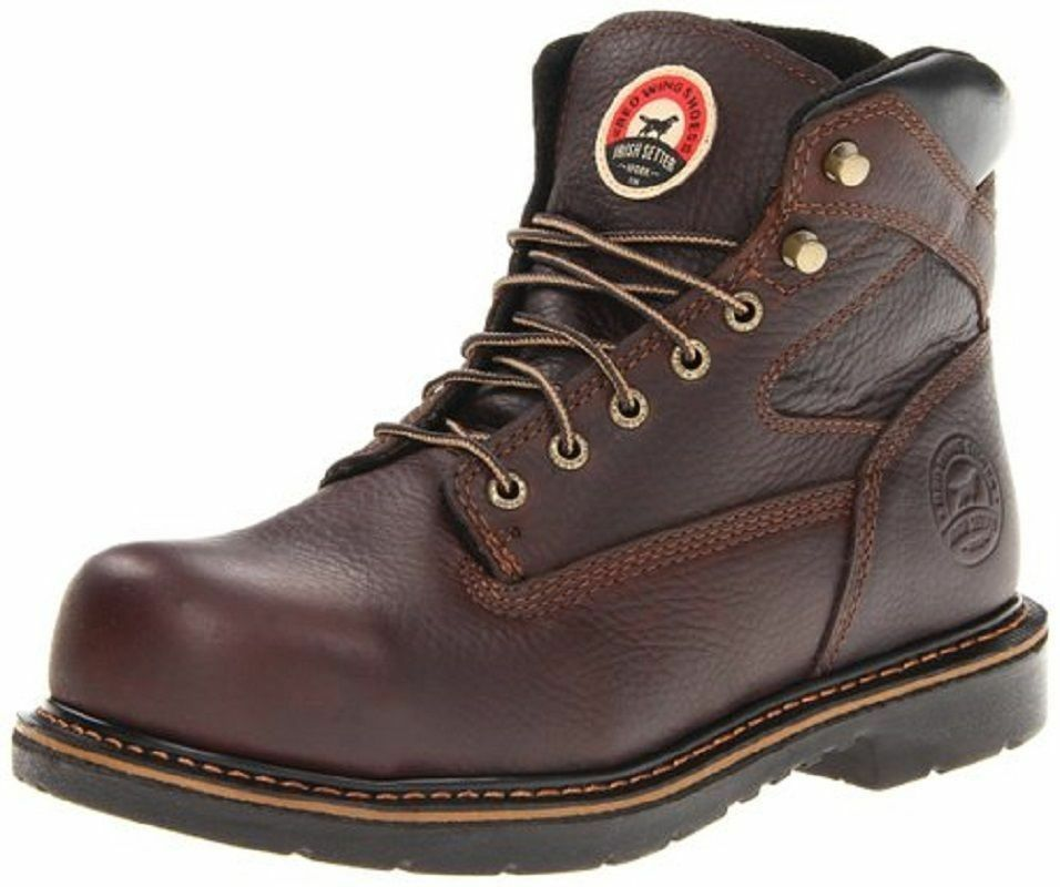 Red Wing Mens Irish Setter 6 Inch Brown Leather Steel Toe