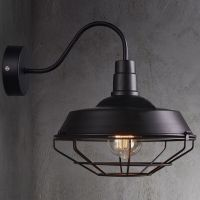 Big Wall Sconce Light Lamp Cage Vintage Iron Outdoor Barn ...