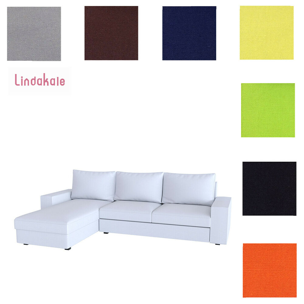 Ready Made Sofa Covers Custom Made Cover Fits Ikea Kivik Sectional 3 Seat Two Seat Sofa With Chaise Ebay